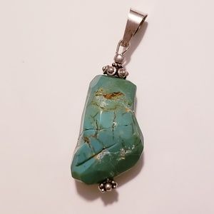 Turquoise Pendant 925 Silver Hecho en Mexico